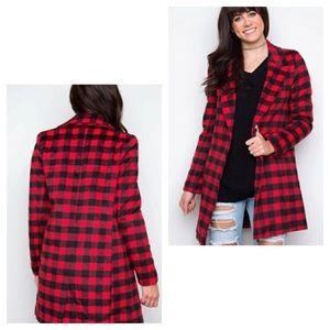🌞 NEW Love Tree checkered plaid coat jacket